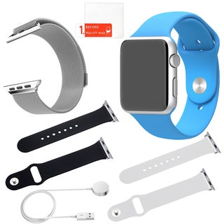 Apple Watch Sport 42mm with Screen Protector and 3 Additional Straps