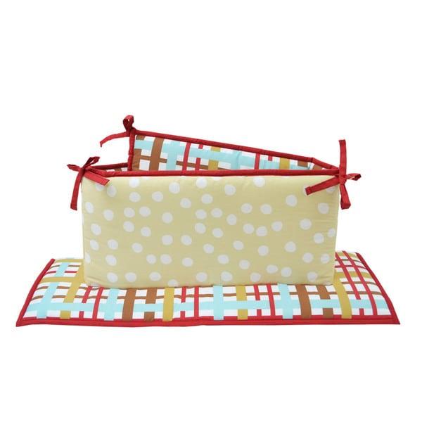 Belle Puppy Play Crib Bumper