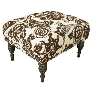 Skyline Furniture Canary Earth Tufted Ottoman