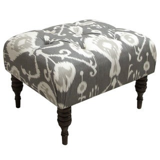 Skyline Furniture Java Pewter Tufted Ottoman