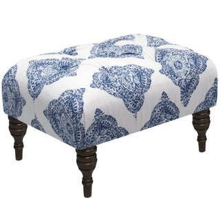 Skyline Furniture Mani Indigo Tufted Ottoman