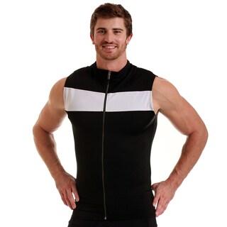 Insta Slim Men's Compression Color Block Zip-up Vest