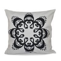 Ikat Mandala Geometric Print 26-inch Throw Pillow