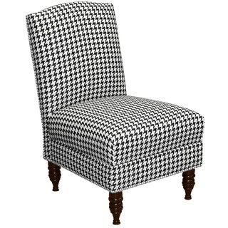 Skyline Furniture Berne Black Armless Nail Button Chair