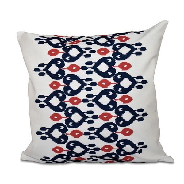 Boho Chic Geometric Print 20-inch Throw Pillow