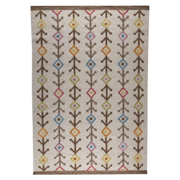 M.A.Trading Handwoven Khema7 Multicolored Rug (India) - 4'6 x 6'6