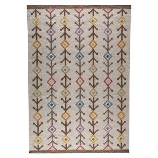 M.A.Trading Hand-woven Khema7 Multicolored Rug (4'6 x 6'6) (India)