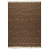 M.A.Trading Hand-woven Bergen Brown Rug (9' x 12') (India)