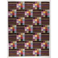 M.A.Trading Hand-woven Khema4 Brown/ Multicolored Rug (5'6 x 7'10) (India)