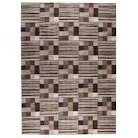 M.A.Trading Hand-woven Khema4 Light Grey Rug (5'6 x 7'10) (India)