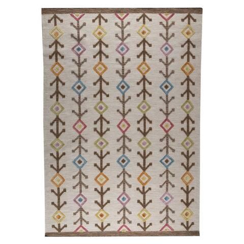 Handmade M.A.Trading Khema7 Multicolored Rug (India)