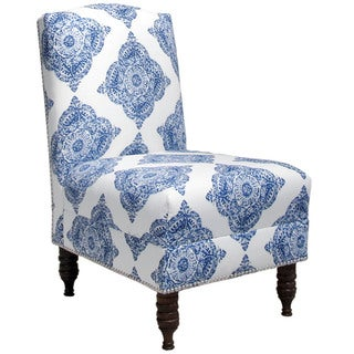 Skyline Furniture Mani Indigo Armless Nail Button Chair