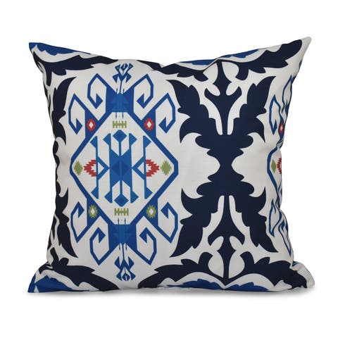 Bombay Medallion Geometric Print 26-inch Throw Pillow