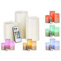 Color Changing Scented LED Flameless Candles with Remote (Set of 3)