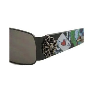 Ed Hardy Catcher Ehs-041 Gunmetal Grey Gradient Sunglasses