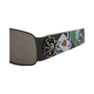 Ed Hardy Catcher Ehs-041 Gunmetal Grey Gradient Sunglasses