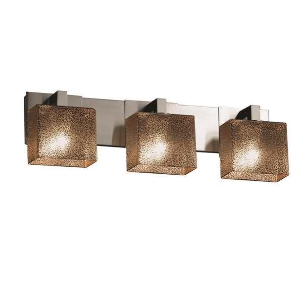 Design fusion modular 3 light brushed nickel bath bar justice