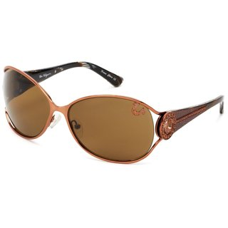 True Religion Jackie Soft Copper Sunglasses - Orange - M
