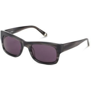 True Religion Jordan Rectangular Black Horn Sunglasses