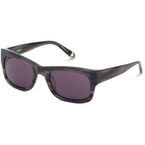 True Religion Jordan Rectangular Black Horn Sunglasses - M