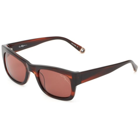 True Religion Jordan Rectangular Brown and Havana Sunglasses - M