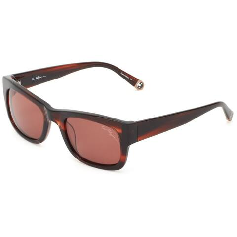 True Religion Jordan Rectangular Brown and Havana Sunglasses - M