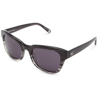 True Religion Heather Rectangular Grey Crystal Havana Sunglasses