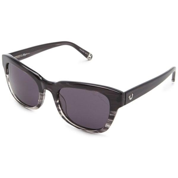 True Religion Heather Rectangular Grey Crystal Havana Sunglasses - M. Opens flyout.