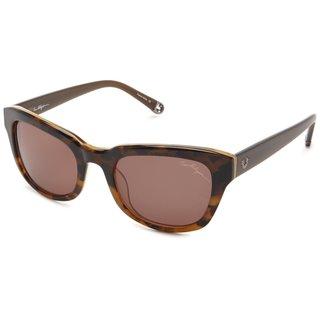 True Religion Heather Rectangular Tort and Dark Honey Sunglasses - Brown - M