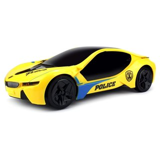 Velocity Toys Electric Future Police 1:18 Scale Battery Operated Bump and Go Toy Car (Colors May Vary)