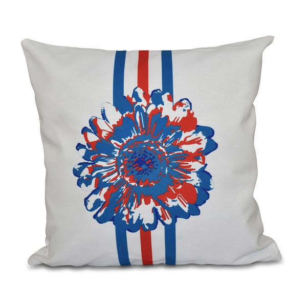 Flower Child Floral Print 20-inch Throw Pillow