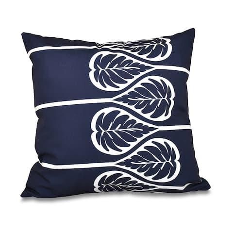 Fern 2 Floral Print 20-inch Throw Pillow