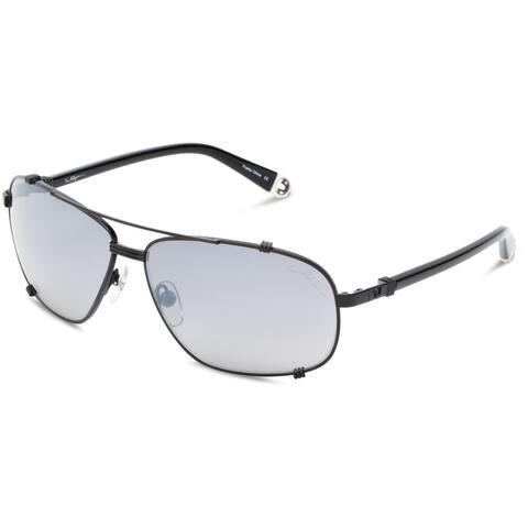 True Religion Harley Aviator Black and Black Sunglasses - 3.5 Inch Thick Foam