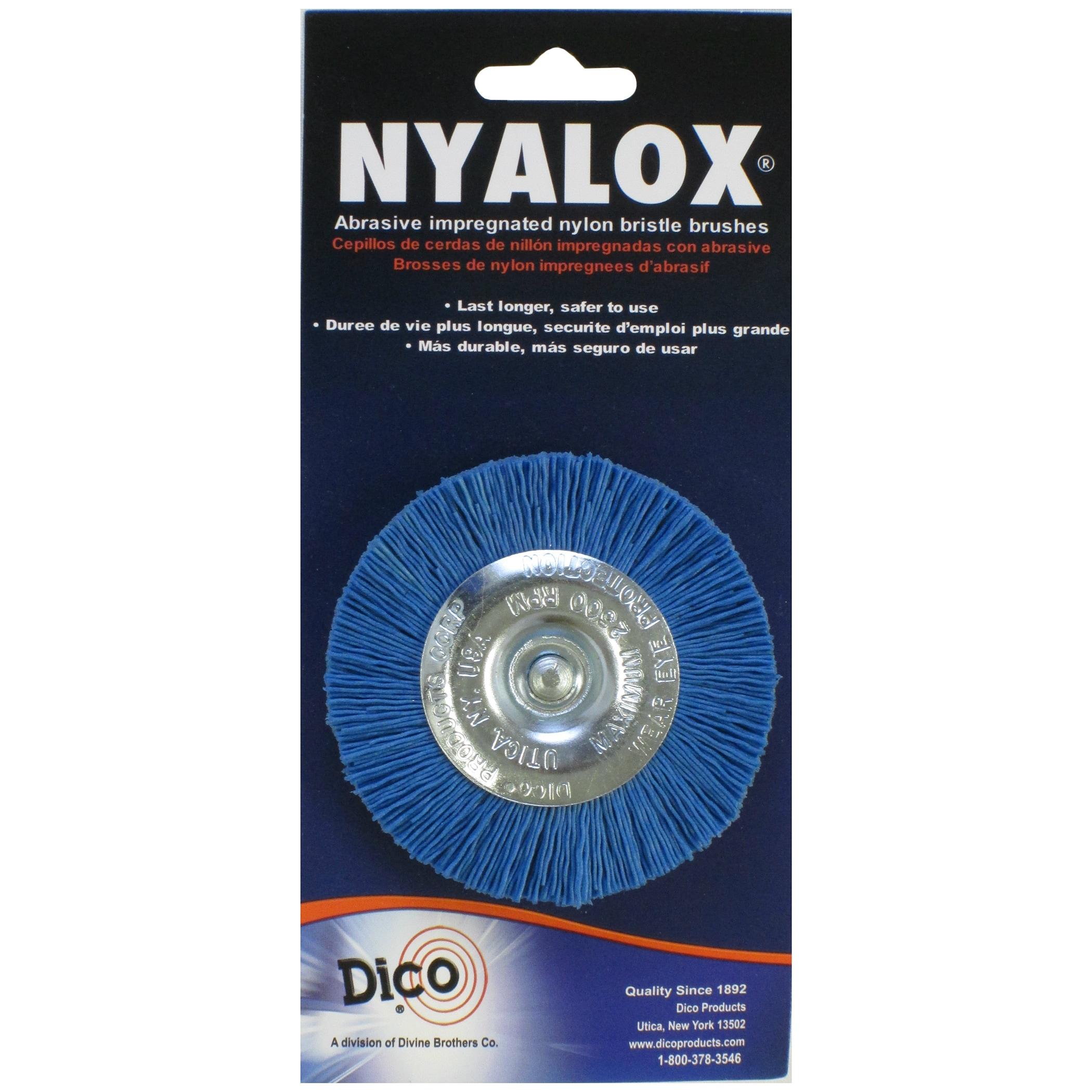 Dico 7200018 3-inch Medium/Fine Nyalox Wire Brush (Power ...