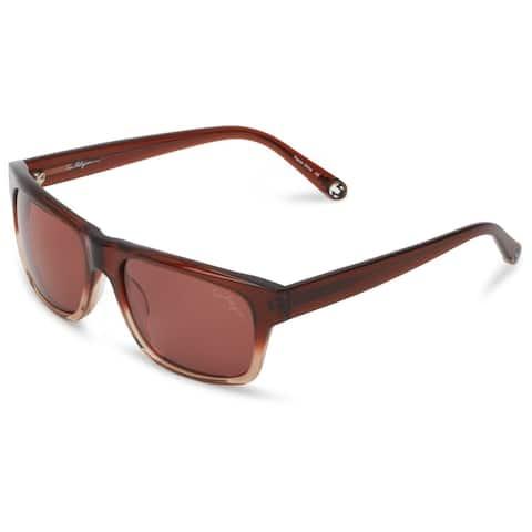 True Religion Jamie Rectangular Brown and Light Brown Sunglasses - M