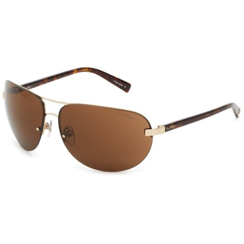 True Religion Reese Tortoise and Gold Sunglasses - Brown - M