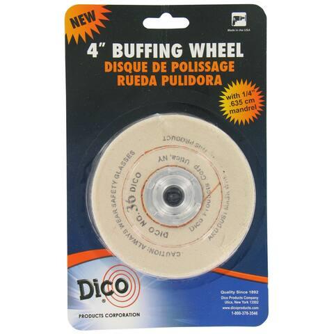 Dico 7000120 4-inch x 0.5-inch Cotton Buffing Wheel