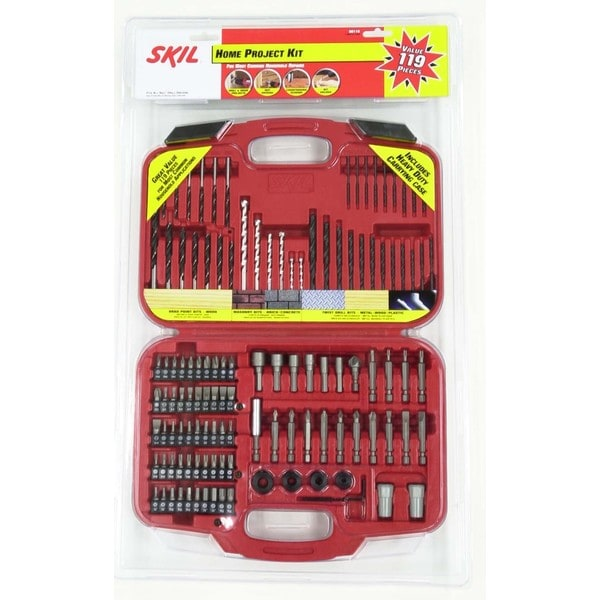 Skil 90119 119-piece Home Drill Bit Set - Red/Silver