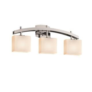 Justice Design Group Fusion Archway 3-light Chrome Bath Bar