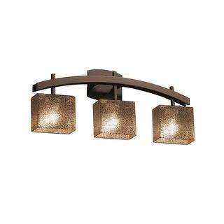 Justice Design Group Fusion Archway 3-light Bronze Bath Bar, Mercury Glass