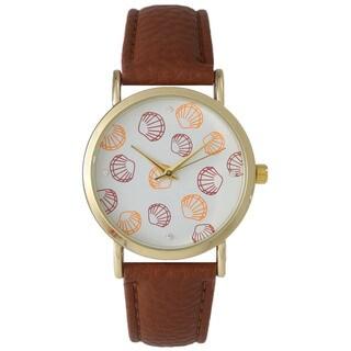 Olivia Pratt Women's Leather Sea Shells Watch