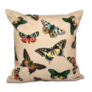 Butterflies Animal Print 20-inch Throw Pillow