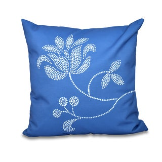 Traditional Flower-Single Bloom Floral Print 26-inch Throw Pillow