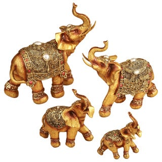 Good Luck Elephant figurines (Set of 4)