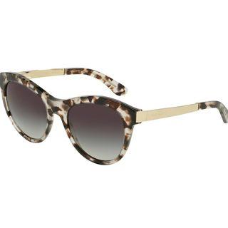 Dolce & Gabbana Women's DG4243 Grey Plastic Round Sunglasses