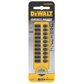 DeWalt DWA1PH2IR10 #2 Phillips Impact Ready Bit Tip 10-count