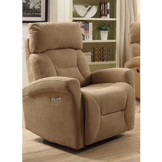 Easy Living Holland Swivel Power Glider Recliner with USB