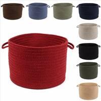 Rhody Rug Woolux Wool 12 x 18-inch Braided Basket