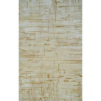 Hand-tufted Anagola Ivory Viscose from Bamboo Rug - 5' x 8'