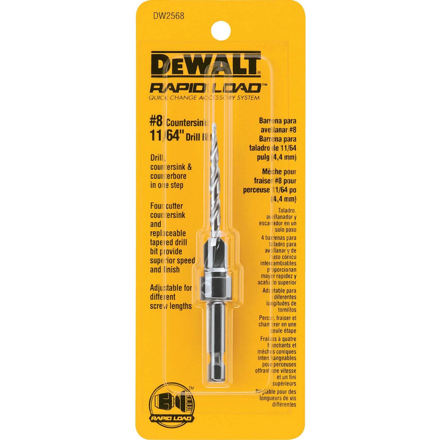 DeWALT DW2568 #8-countersink With 10.1674-inch Drill Bit ...
